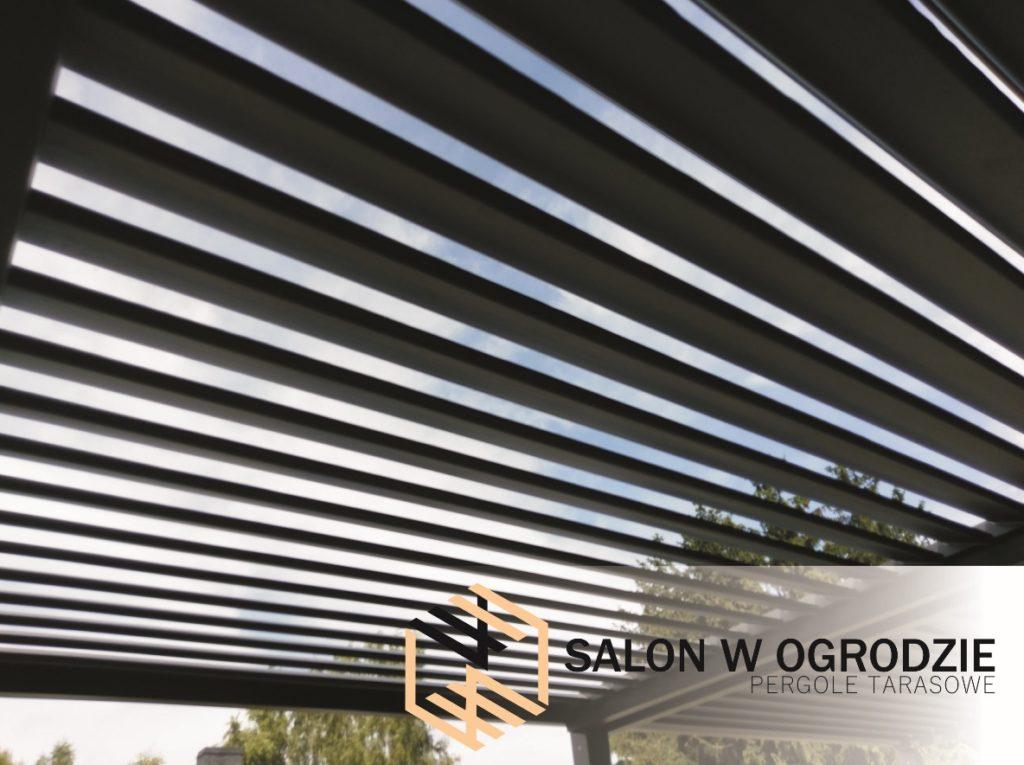 dach nad tarasem żaluzja dachowa na dachu pergola z żaluzją konstrukcja aluminiowa