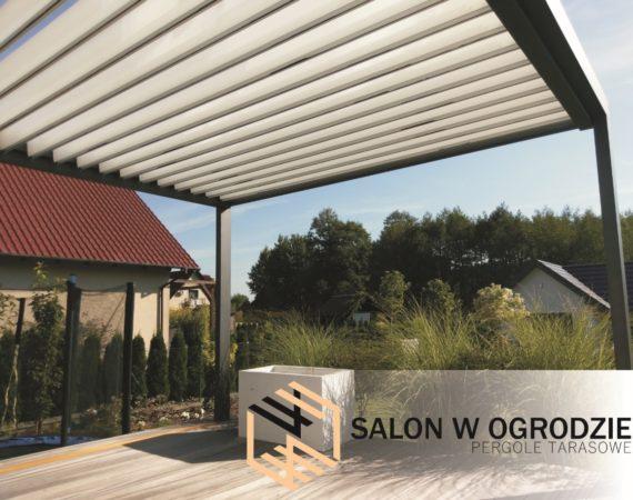 montaż pergoli tarasowych dach żaluzjowy zabudowa zadaszenie tarasu salonwogrodzie