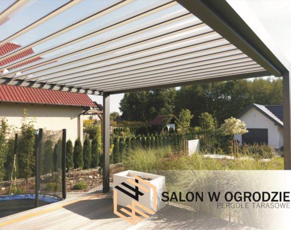 pergola sb400 dach z żaluzją konstrukcja aluminiowa zabudowa tarasu salonwogrodzie