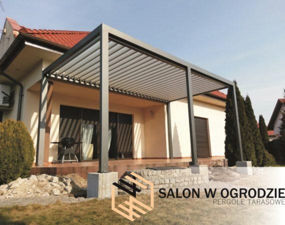 pergola tarasowa zadaszenie tarasu nowoczesna żaluzja na dachu